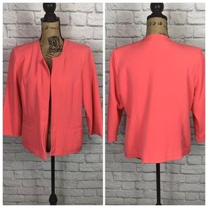 Russell Kemp Coral Pink Open Blazer Size XLarge